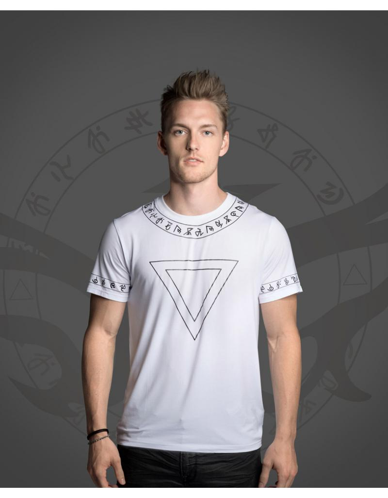 WiGi Atlantean Luxury White T-Shirt With Black Pattern