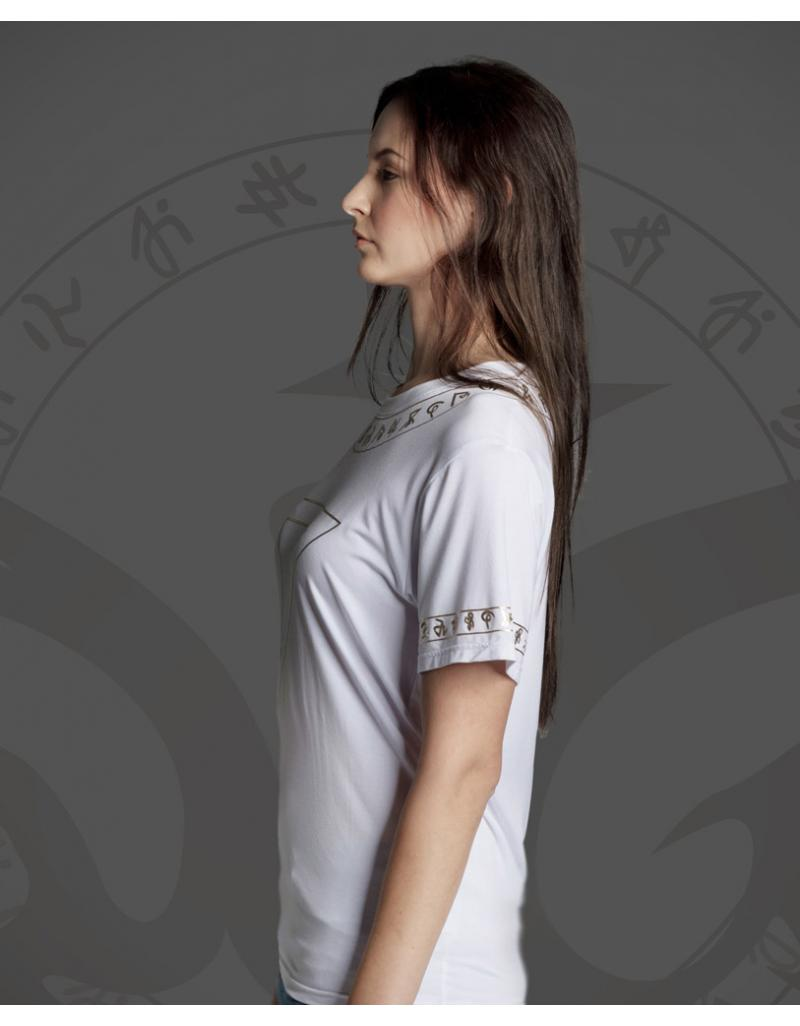 WiGi Atlantean Luxury White T-Shirt With Gold Pattern - Limited